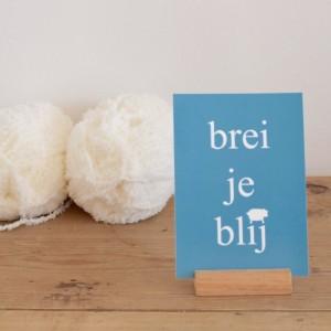 """Ansichtkaart """"Brei je blij"""""""