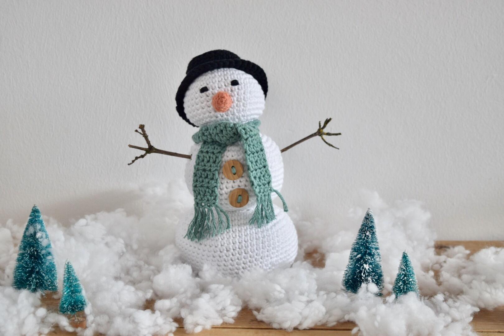 Sneeuwpopje haken..!