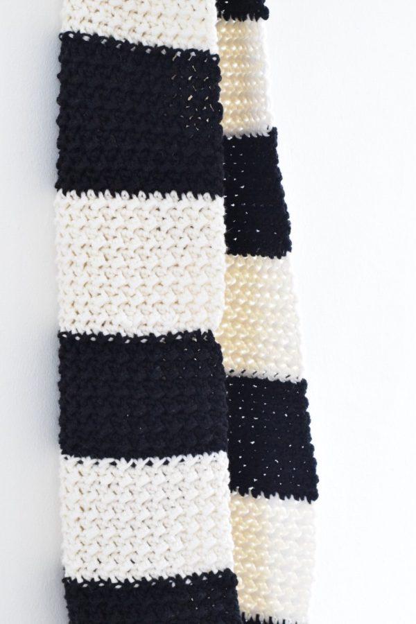 Stoere Zwart Witte Sjaal Haken Happy Handmade Living