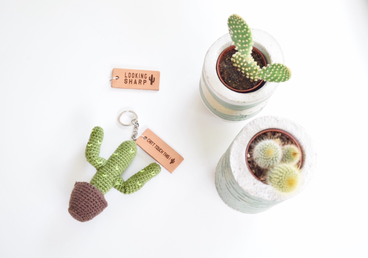 Cactus Sleutelhanger Haken Happy Handmade Living