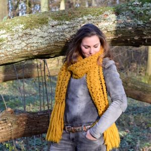Haakpatroon chique sjaal