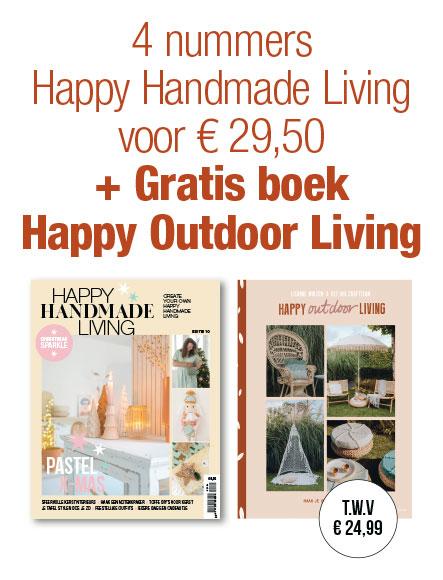 4 nummers € 29,50 + Boek Happy Outdoor Living