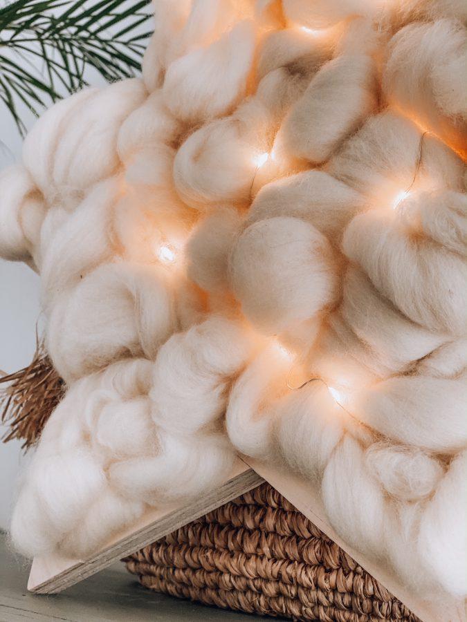 DIY kerstster lontwol