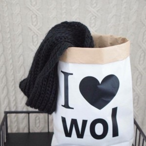 I love wol paperbag (wit)