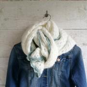 Haakpatroon mohair sjaal