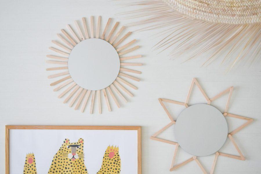 DIY hippe spiegels
