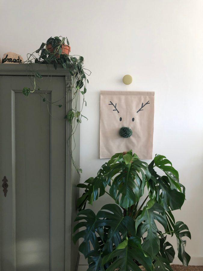 DIY wanddoek Rudolph