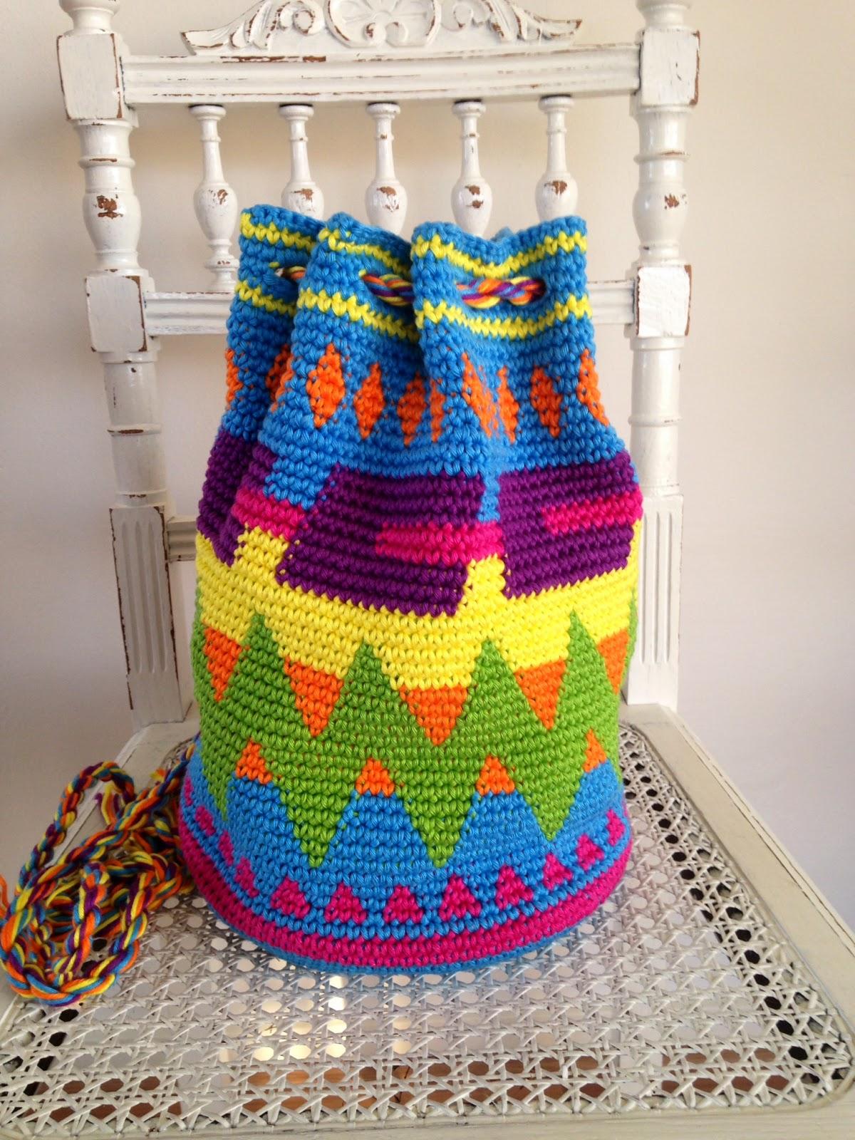 Hippe Tapestry Gehaakte Mochila Tas Happy Handmade Living