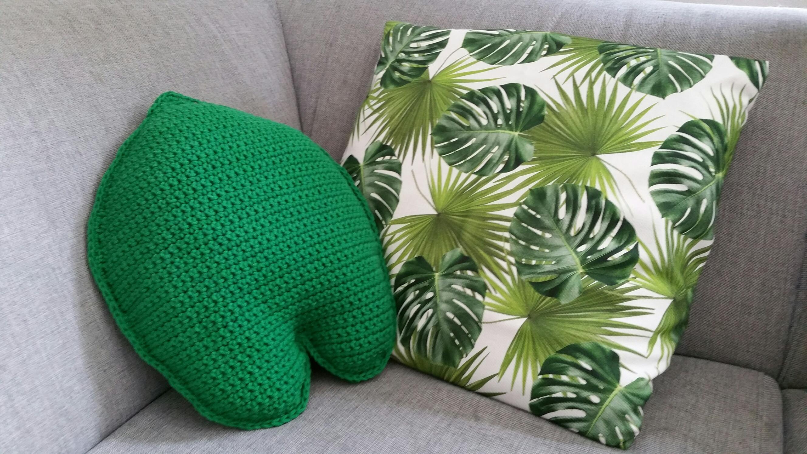 Groen bladkussen haken
