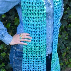 Haakpatroon springlace sjaal