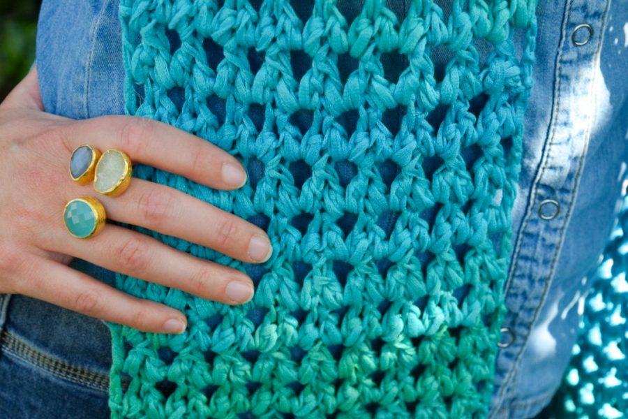Springlace Sjaal Haken Happy Handmade Living Bloglovin