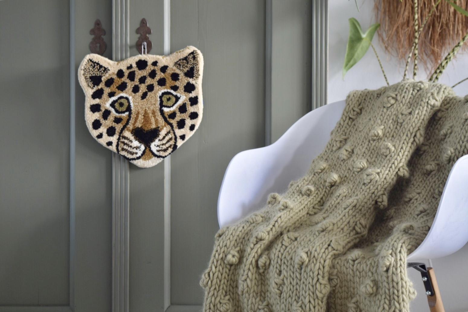 Noppen deken breien