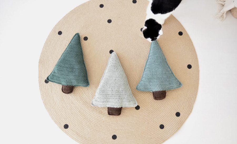 Kerstboom Kussen Haken Happy Handmade Living