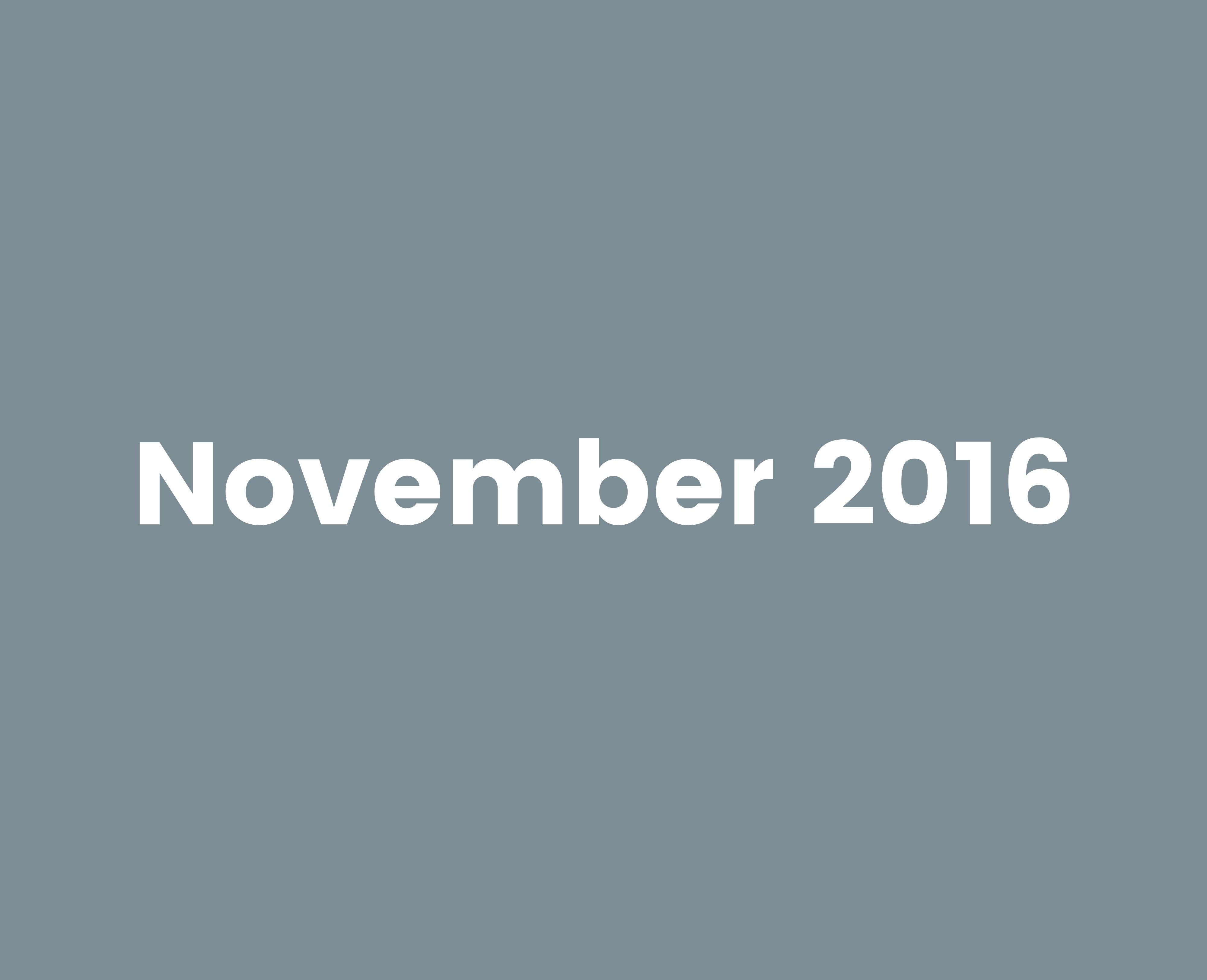 November 2016..!